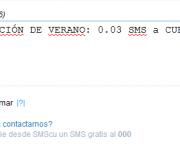 Promocion de verano a 0.03 el SMS a CUBA